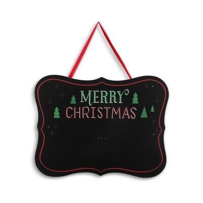 Christmas Chalk Photo Board