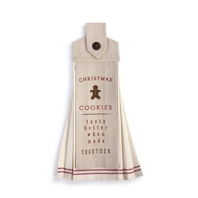 Hanging Tea Towel - Christmas Cookies