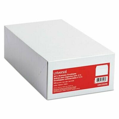 6 3/4 Regular Envelopes, 3.63 x 6.5, White, 500/Box
