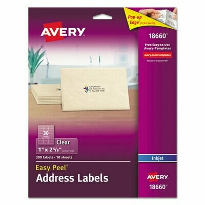 Avery Clear Address Labels