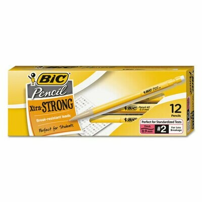 BIC Xtra-Strong Mechanical Pencil, Thick Point (0.9mm), 12-Count
