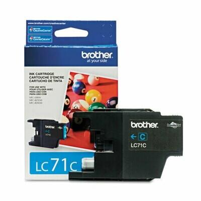 Brother Lc 71 Cyan Ink Cartridge
