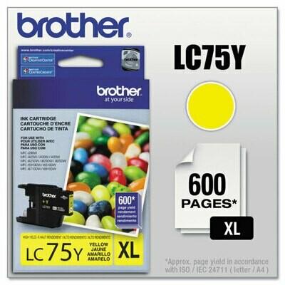 Brother Lc75xl Yellow Cartridge
