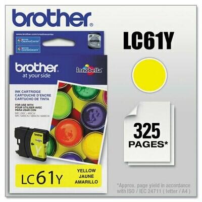 Brother LC61 Yellow Cartridge
