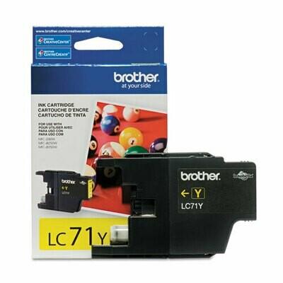 Brother LC 71 Yellow Cartridge