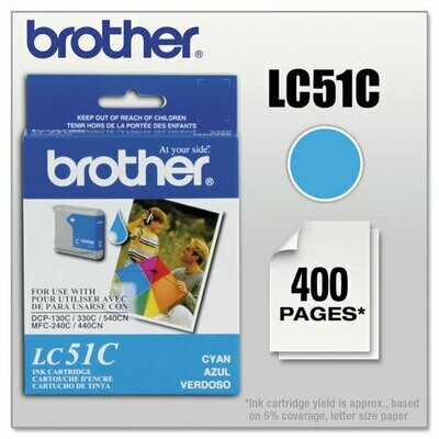 Brother LC51 Cyan Cartridge