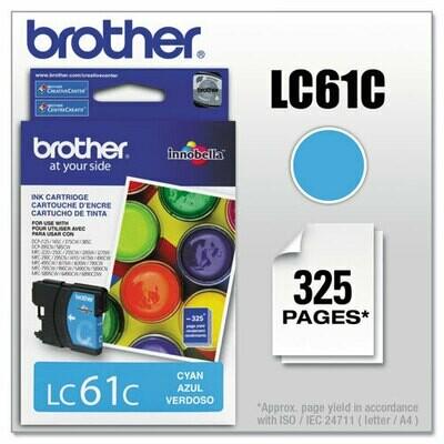 Brother Lc61 Cyan Cartridge