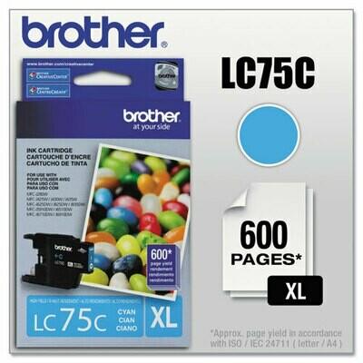 Brother Lc75xl Cyan Ink Cartridge