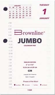 "Brownline® Daily Calendar Pad Refill, 3-1/2"" x 6"""