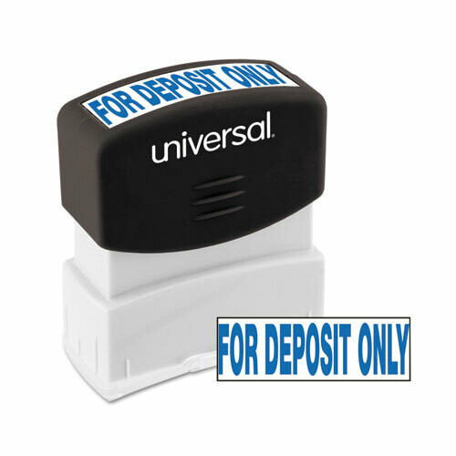 Message Stamp, for DEPOSIT ONLY, Pre-Inked, Blue