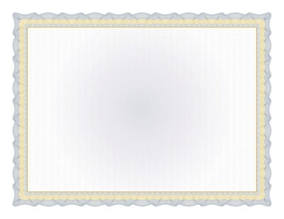 Great Papers! Twisty Graph Navy Foil Certificate, 15 count