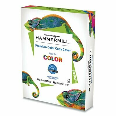 Hammermill Color Copy Cover, 100 Bright, 60lb, 8.5 x 11, 250/Pack