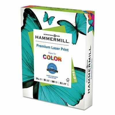 Hammermill Laser Print Paper, 98 Bright, 24lb, 8.5 x 11, White, 500/Ream