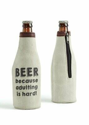Mona B Beer Koozie-Adulting Is Hard
