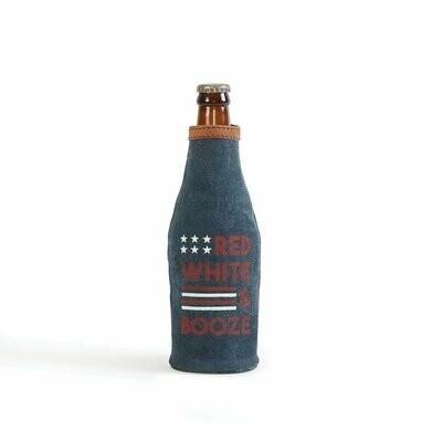 Mona B Beer Koozie-Red, White & Booze