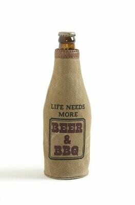Mona B Beer Koozie-bbq & booze