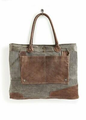 Mona B Dakota Bag with dark oak trim