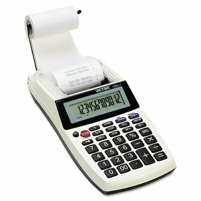Victor Palm/Desktop One-Color Printing Calculator, Black Print, 2 Lines/Sec