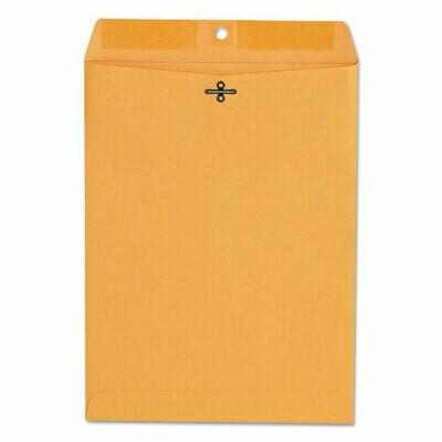 Universal Kraft Clasp Envelope, 90, Gummed Closure, 9 x 12, Brown Kraft, 100/Boxnvelopes - 9x12 Brown Kraft