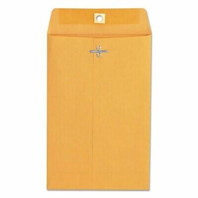 Universal Kraft Clasp Envelope, Gummed Closure, 6 x 9, Brown Kraft, 100/Box