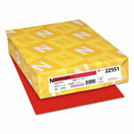 Wausau Astrobright Paper, 24lb, 8.5x11 - Re-entry Red