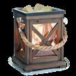Candle Warmer - walnut & rope