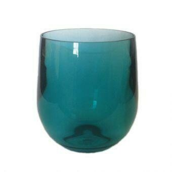 Stemless Wine Glass - Turquoise