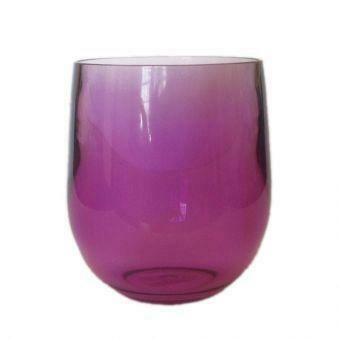 Stemless Wine Glass - Purple