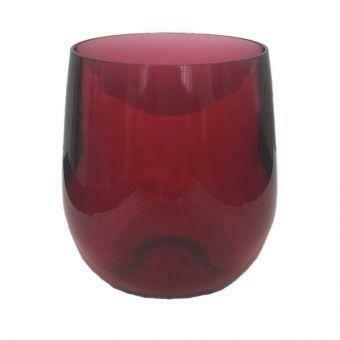 Stemless Wine Glass - Cranberry