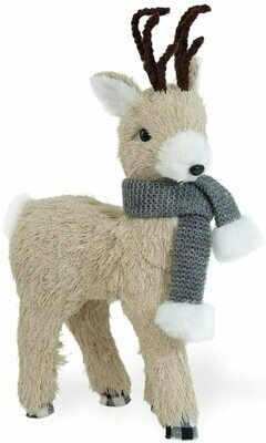 Standing Deer With Grey Scarf