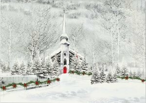 Snowy Steeple Holiday Cards