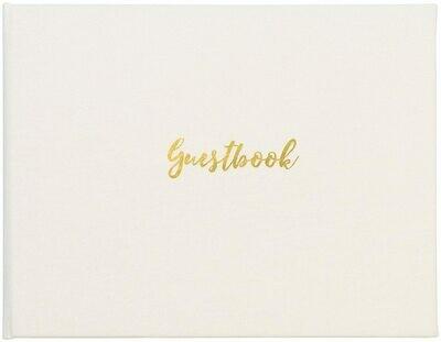 Classic Guest Book - White