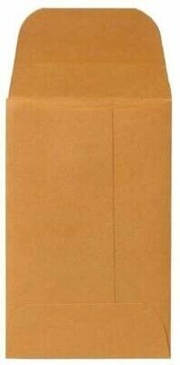 Coin Envelopes, Gummed Flap, 20 lb, 2-1/4 x 3-1/2 Inches, Kraft
