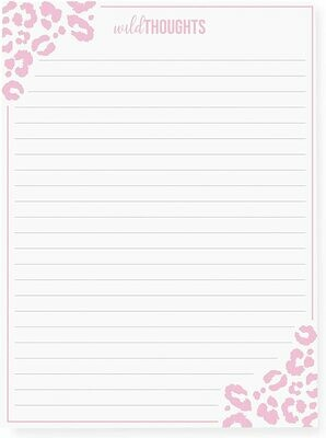 Graphique Wild Thoughts Note Pad