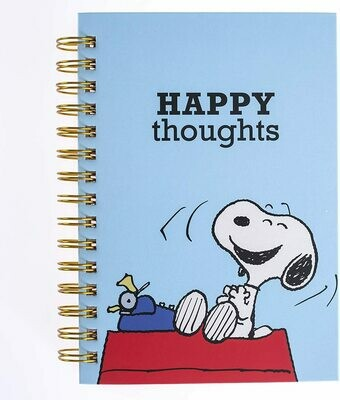 """Graphique Peanuts """"Happy Thoughts"""" Hard Bound Journal"""