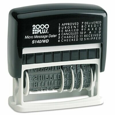 Micro Message Stamp/Dater, Self-Inking