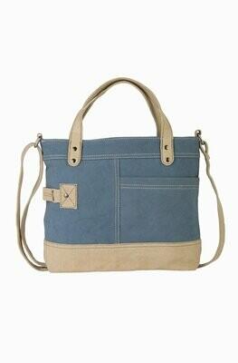 Mona B Dusty Blue Crossbody Bag