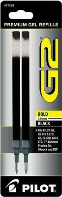Pilot G2 Pen Refill - Bold Black Ink