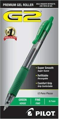 Pilot G2 Pens - Green Fine
