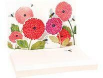 Pop Up Notepads (Dahlias And Bees)