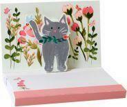 Pop Up Notepad (Botanical Cat)