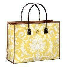 Anna Griffin All Purpose Bag - Yellow Damask