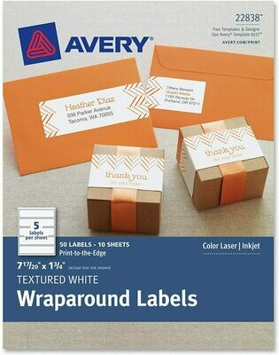 Avery Textured Wraparound Labels