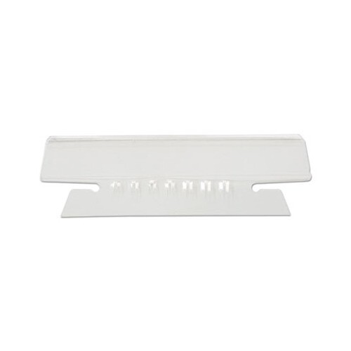"""Universal Hanging File Folder Plastic Index Tabs, 1/3-Cut Tabs, Clear, 3.5"""" Wide"""