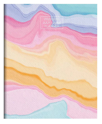 """TF Publishing Monthly Academic Appointment Book, Sorbet, 9""""x11"""", Multicolor"""