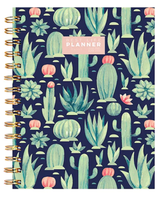 """TF Publishing Academic 7"""" x 9"""" Daily & Monthly Planner, Best Life, Cacti Colors"""