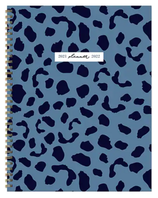 "TF Publishing Academic 8.5"" x 11"" Weekly & Monthly Planner, Indigo Blues Series, Blue Cheetah"