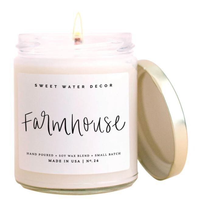 Sweet Water Farmhouse Soy Candles