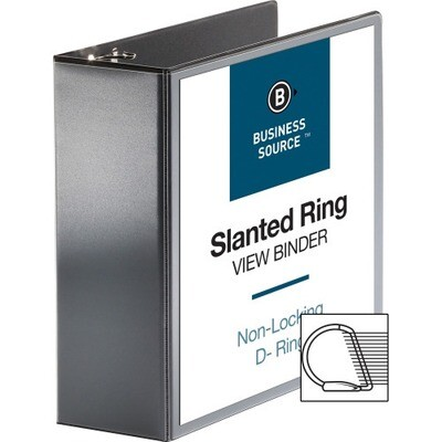 """Business Source 4"""" D ring Binders"""