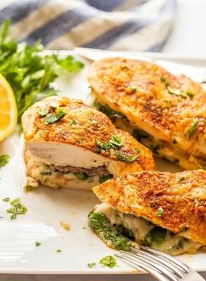 Chicken Breast Stuffed with Spinach Madeleine